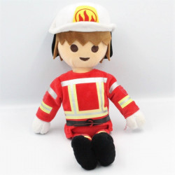 Doudou peluche Playmobil Pompier PLAY BY PLAY