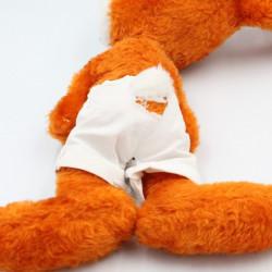 Ancienne peluche lapin orange GRINGOIRE