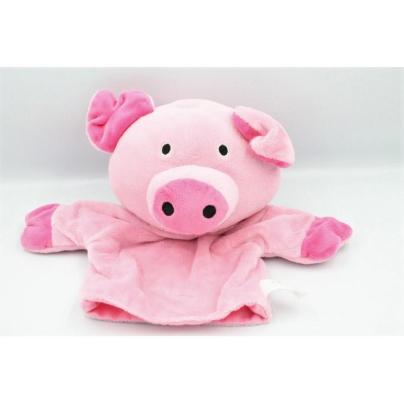 Doudou marionnette cochon rose NATURE ET DECOUVERTE