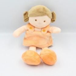 Doudou poupée fille orange Chipie BABY NAT