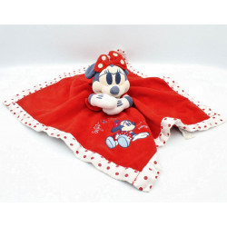 Doudou plat Minnie rouge satin blanc pois Sugar Spice DISNEY