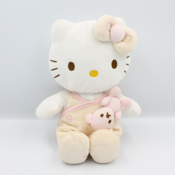 Doudou chat HELLO KITTY pyjama beige rose SANRIO LICENSE