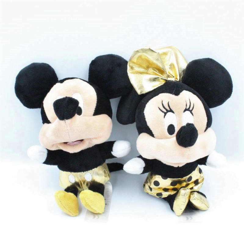 Peluche sonore Minnie et Mickey noir or DISNEY PRIMARK