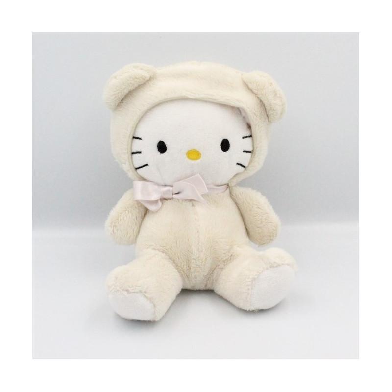 Doudou chat HELLO KITTY déguisé en ours blanc SANRIO LICENSE H&M