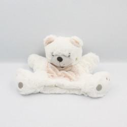 Doudou plat marionnette ours blanc marron SIMBA TOYS KIABI