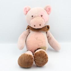 Doudou cochon rose beige marron HISTOIRE D'OURS