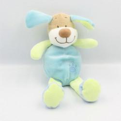 Doudou chien beige bleu vert DOUKIDOU