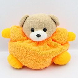 Doudou ours orange fluo AJENA