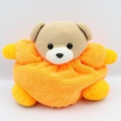 Doudou ours orange fluo AJENA