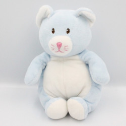 Doudou chat bleu blanc GIPSY