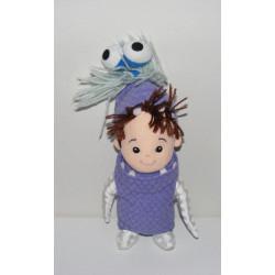 Peluche petite fille Bouh Boo déguisé en monstre Monstres et compagnie JEMINI