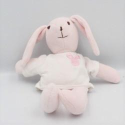Doudou lapin rose blanc LA HALLE