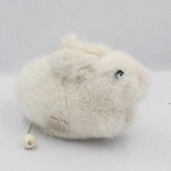 Ancienne peluche musical lapin blanc LES PETITES MARIE RAYNAUD