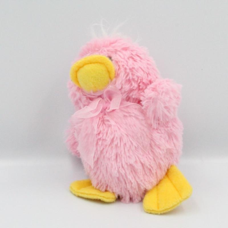 Doudou peluche poussin oiseau rose SIPLEC
