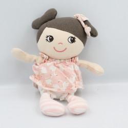 Doudou poupée robe rose avec cygnes H ET M H.M H&M