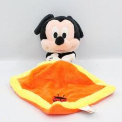Doudou Mickey mouchoir orange jaune DISNEY TOMMY
