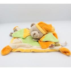 Doudou et compagnie plat ours jaune orange vert beige Melis