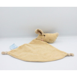 Doudou plat chien beige marron KING BEAR