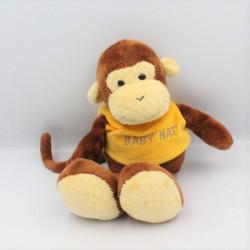 Doudou singe marron pull jaune Baby nat