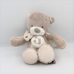 Doudou musical ours beige marron blanc couronnes NATTOU