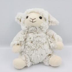 Doudou peluche mouton blanc beige RODADOU RODA