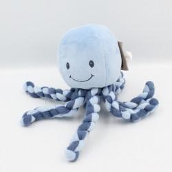 Doudou pieuvre bleu laine NATTOU