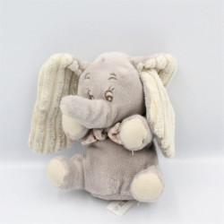 Doudou éléphant gris Dumbo noeud vichy beige DISNEY NICOTOY