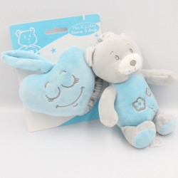 Doudou musical ours gris bleu TOM & KIDDY TOMKIDS