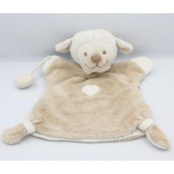 Doudou marionnette mouton beige blanc nuage NATTOU