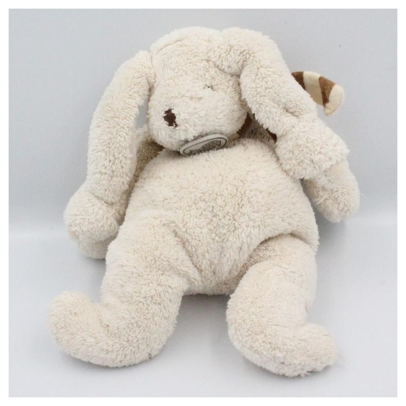 Doudou Lapin beige rayé marron Baby Nat