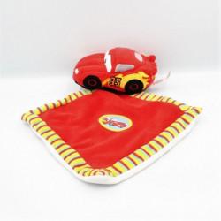 doudou voiture rouge Cars McQueen mouchoir DISNEY