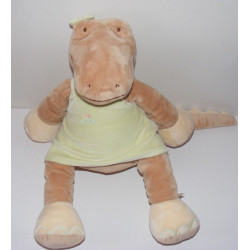 Grand doudou crocodile Odile robe verte NOUKIE'S