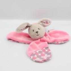 Doudou plat lapin gris rose pois BABY NAT