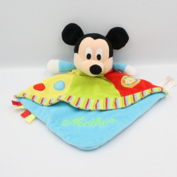 Doudou plat Mickey bleu vert rouge jaune cirque DISNEY