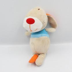 Doudou lapin beige bleu orange TAILOR LILLIPUTIENS