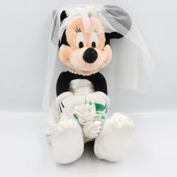 Peluche souris Minnie en robe de mariée DISNEY