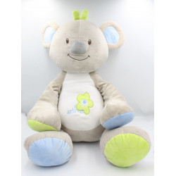 Géant Doudou koala gris bleu vert Arthur et Lola BEBISOL