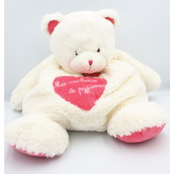 Doudou ours blanc rose Ma cachette à pyjama BABY NAT