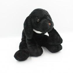 Doudou chien noir collier blanc Lyca HAPPY HORSE