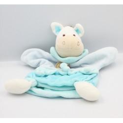 Doudou et compagnie marionnette ane cheval bleu blanc Anatole