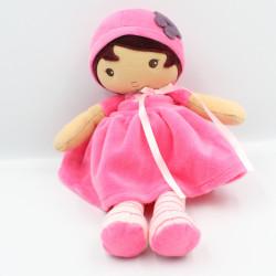Doudou poupée beige rose rayé KALOO