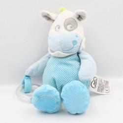 Doudou cheval bleu vert...