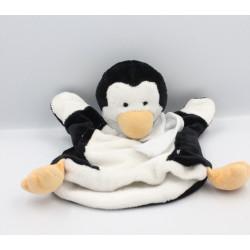 Doudou et compagnie marionnette pingouin foulard bleu
