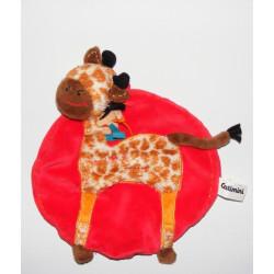 Doudou girafe Choco salopette rouge CATIMINI