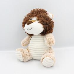 Peluche Doudou lion blanc beige marron MAX & SAX