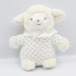 Doudou mouton blanc pois AVENE PEDIATRIL