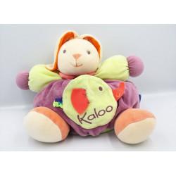 Doudou patapouf lapin violet vert orange éléphant POP KALOO