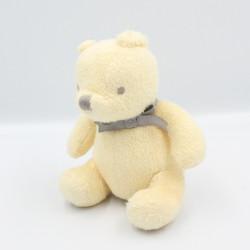 Doudou Winnie l'ourson jaune noeud gris DISNEY BABY