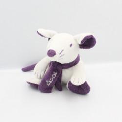 Doudou souris blanche violet APOL