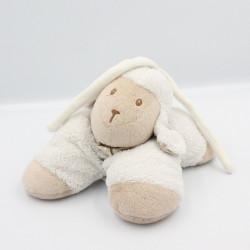 Doudou musical mouton blanc beige foulard pois NATTOU